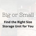 Small Storage Unit AL FL NJ
